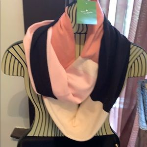 Kate spade color block infinity scarf